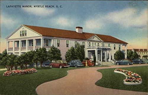 Lafayette Manor Myrtle Beach, South Carolina SC Original Vintage Postcard 1948