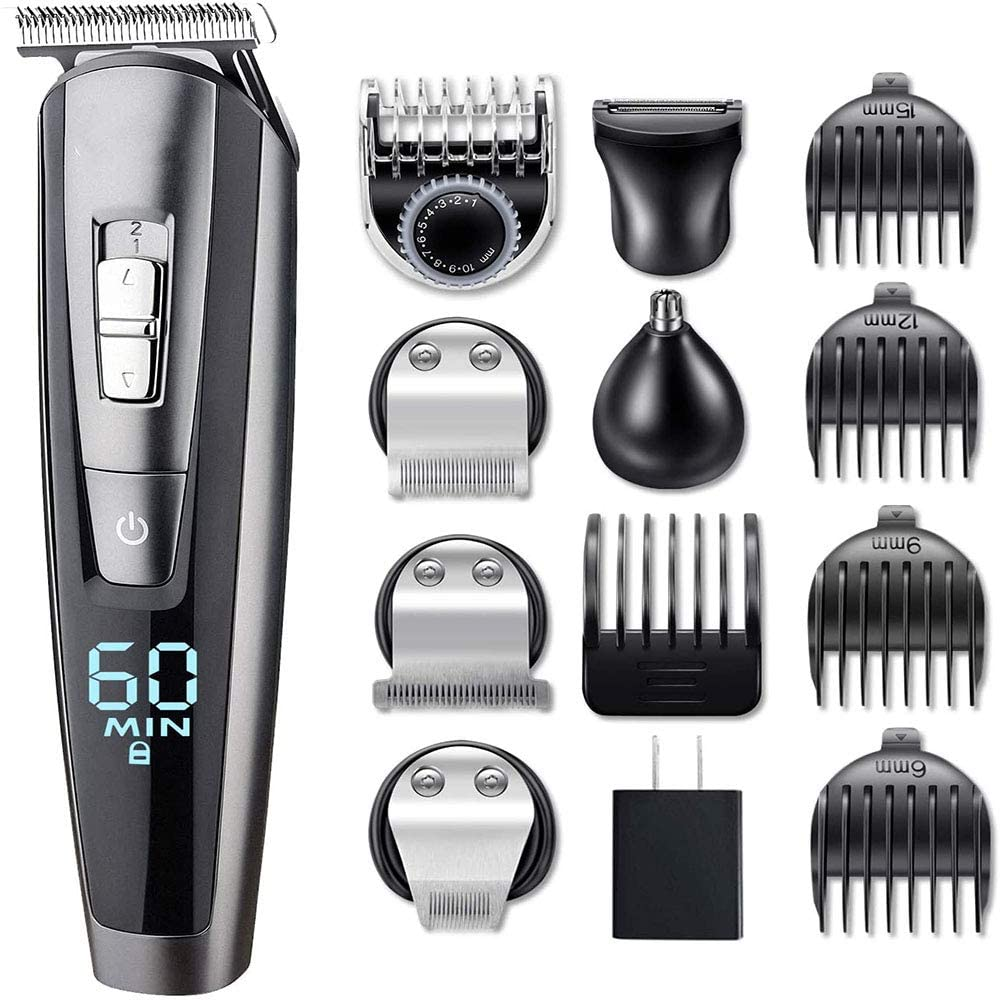 ALY Hair Clipper,Beard Trimmer Kit for Men Cordless Hai, Mustache Trimmer Hair Cutting Groomer Kit Precision Trimmer,Waterproof USB Rechargeable,5 in 1