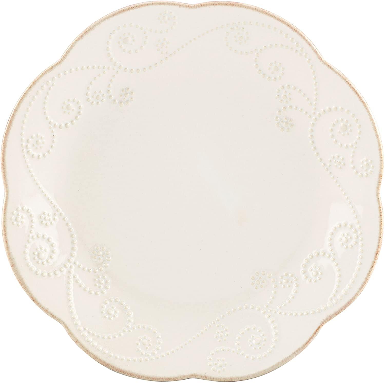 Lenox French Perle Dessert Plates, White, Set of 4 -