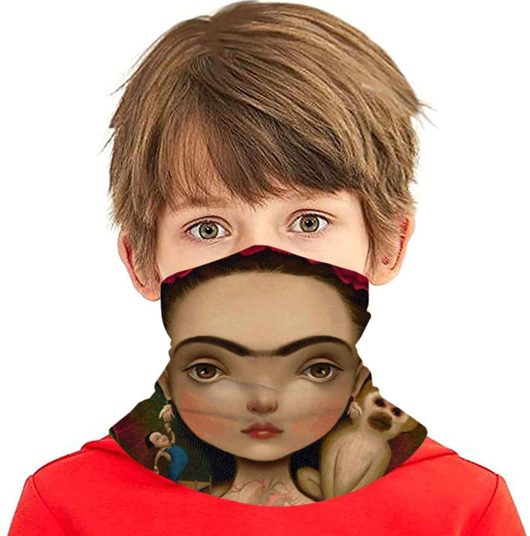 Frida Kahlo Youth Ice Silk Scarf Unisex Mask Neck Gaiter,Balaclava