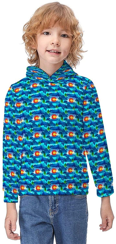 ODOKAY Girls Soft Long Sleeve Pullover Hood Printed Autumn Pullover for Kids