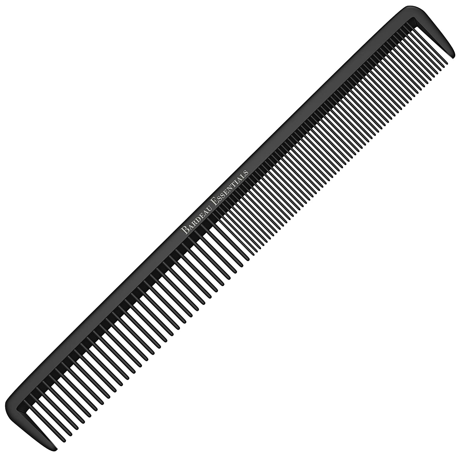 """Styling Comb - Professional 8.75"""" Black Carbon Fiber Anti Static Chemical And Heat Resistant Hair Combs For All Hair Types For Men and Women - By Bardeau Essentials"""