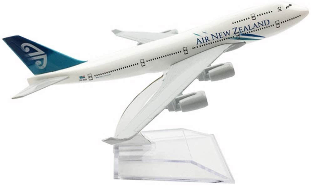 NUOLANDE 1:400 Scale Diecast Airplane Model 16Cm Alloy Airplane Model Air New Zealand B747-400 for Collection Or Gift