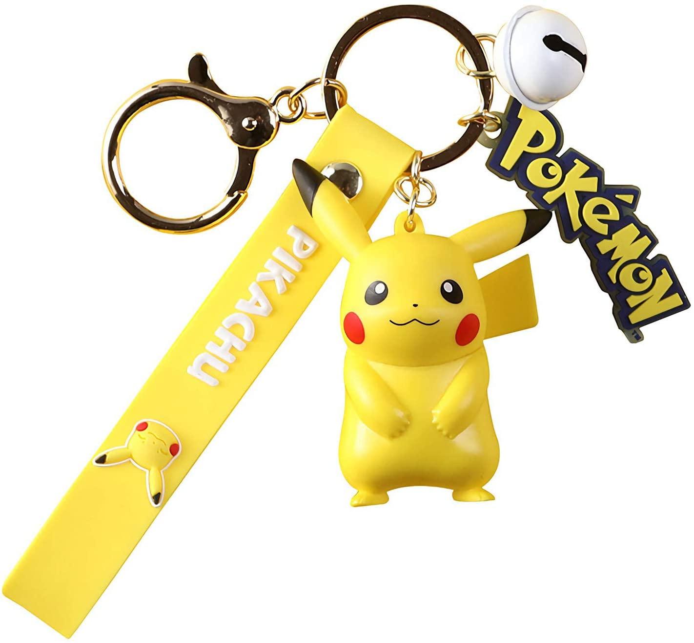 YJacuing Anime Pikachu Cute Figure Keychain (Pikachu)