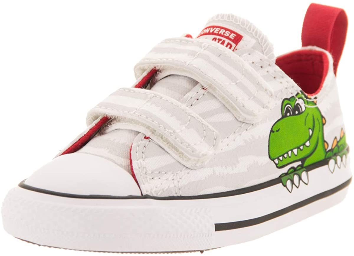 Converse Chuck Taylor All Star 2V Ox White/Navy Canvas Infant Trainers Shoes