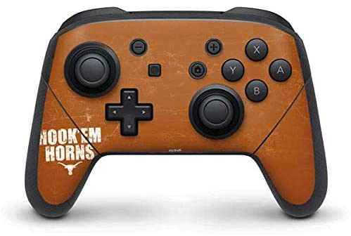 Skinit Decal Gaming Skin Compatible with Nintendo Switch Pro Controller - Officially Licensed University of Texas at Austin Texas Longhorns Hook Em Design