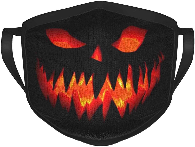 KAULATY Halloween Festival Reusable Unisex Adultface Bandanas Washable Fashion Gift Perfect Choice