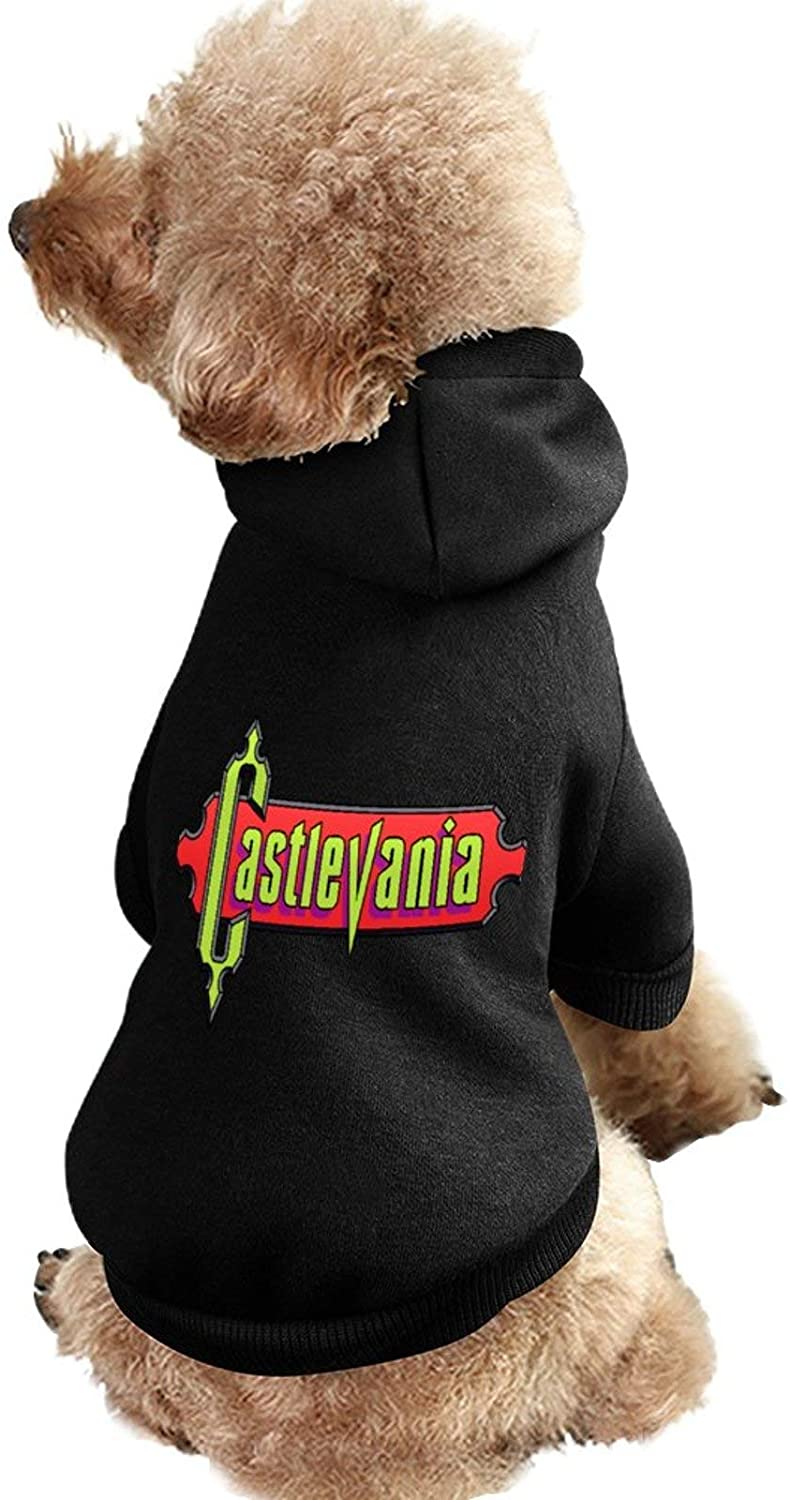 MissYo Castlevania Dog Coat with Hat Funny Costume Winter Soft Dog Jumpsuit Pet Sweater Coat