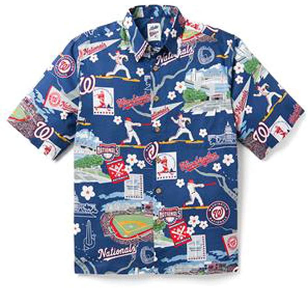 Reyn Spooner Washington Nationals Scenic Small Cotton MLB Hawaiian Shirt