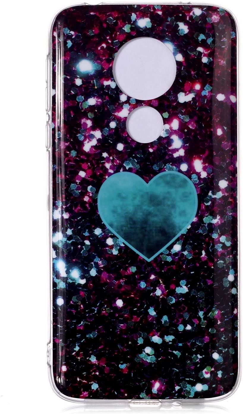JLTL Moto G7 Power Case,3D Colorful Marble Ultra Thin Slim TPU Gel Flexible Soft Cover Protective Phone Case for Motorola Moto G7 Power