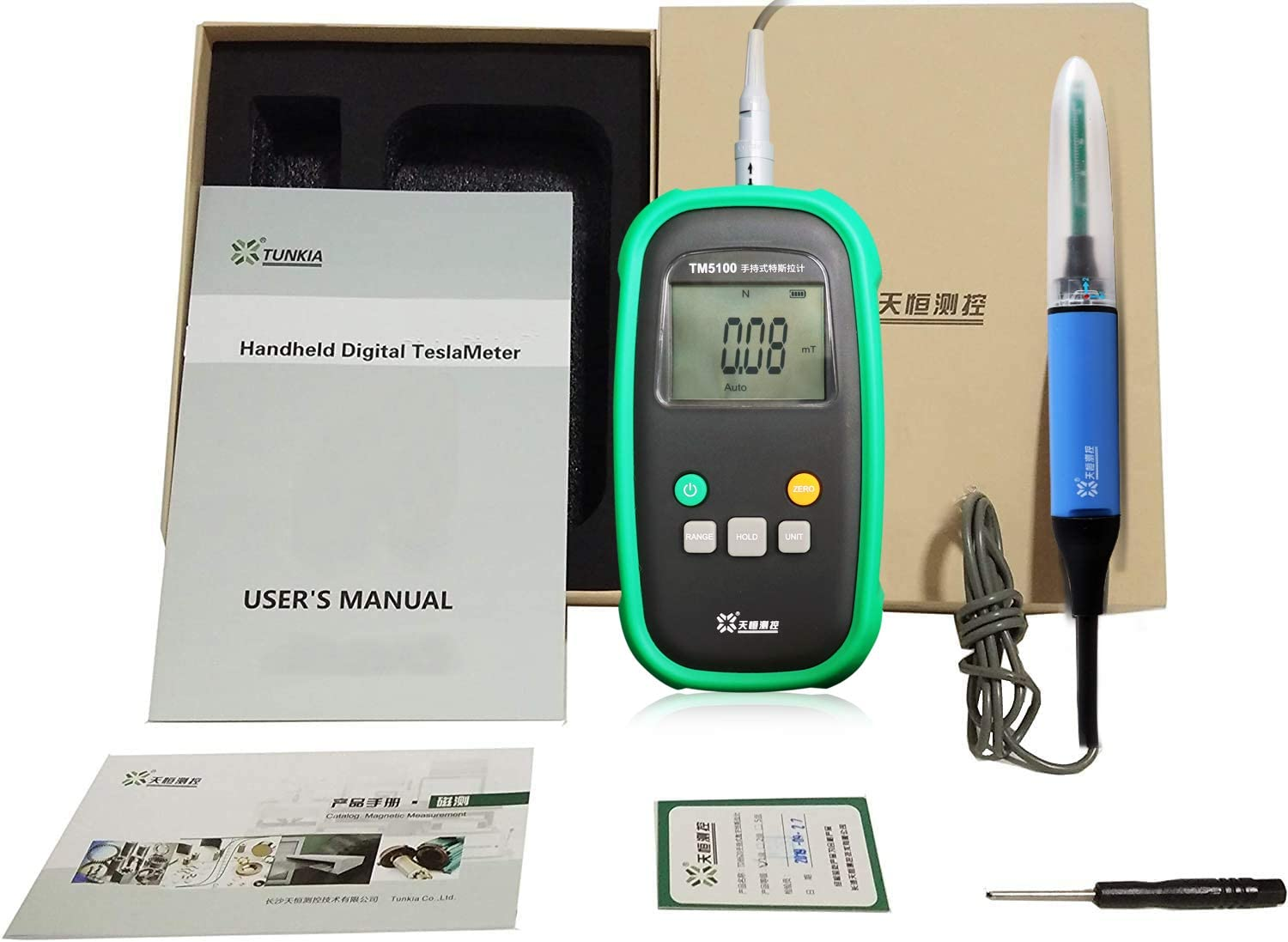 Digital Permanent Magnet Gauss Meter Tesla Meter Gaussmeter with 1% Accuracy Surface Magnetic Field Tester