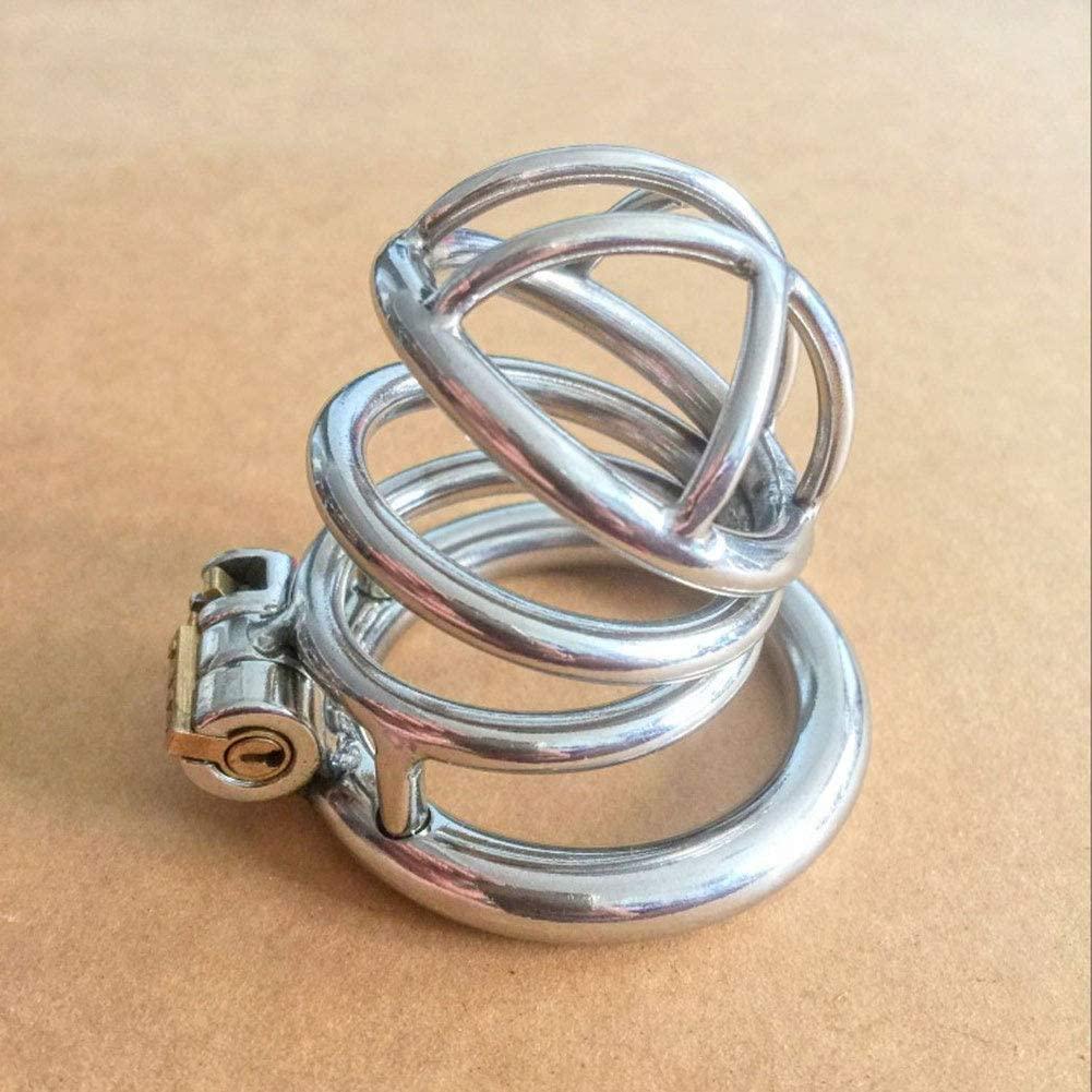 ÇHȀṤtity Dëvîcë CṎck Cȁgë P`ÊňÏs R-îng Mens Stainless Steel Çhástîty Device CṎck Cȁgë P`ÊňÏ-s R-îng Hypoallergenic Thongs Ṥ-ê-x Toys 58 (Size : 40mm)