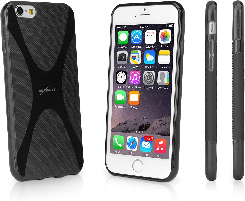iPhone 6 Case, BoxWave [Bodysuit] Premium Textured TPU Rubber Gel Skin Case for Apple iPhone 6, 6s - Jet Black