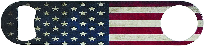 Vintage USA Flag Powder Coated Steel Bottle Opener