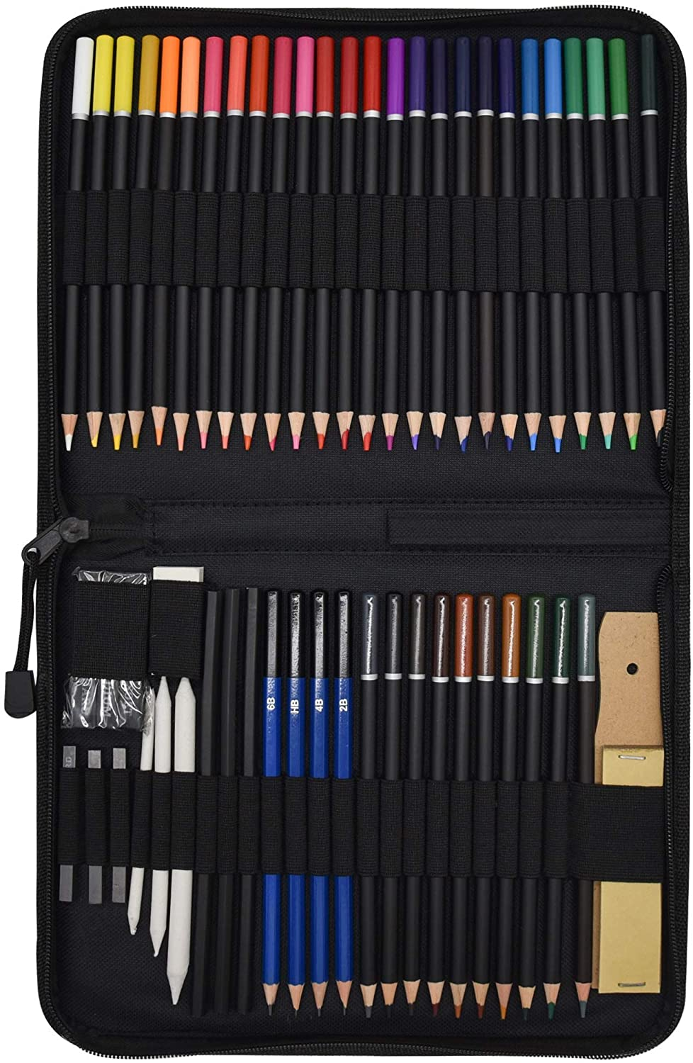 Orionstar 54-Piece Colored Pencils Set, Drawing Pencils and Sketching Kit with Zipper Case, Professional Sketch Art Supplies for Adults Sketching Shading Coloring Book, 36 Colors + 18 PCS