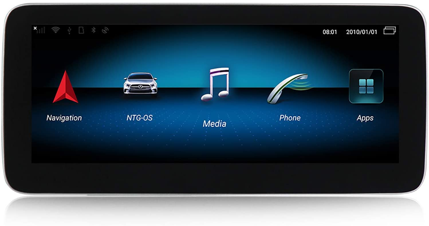 WHL.HH Android Car Stereo Radio GPS Navigation 10.25 Inch Touch Screen Multimedia Player for Mercedes Benz B-Class W246 2011-2018,N600,NTG4.5