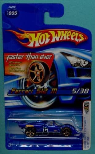 Hot Wheels 2006 Blue Ferrari 512 M 1:64 Scale Collectible Die Cast Car #003