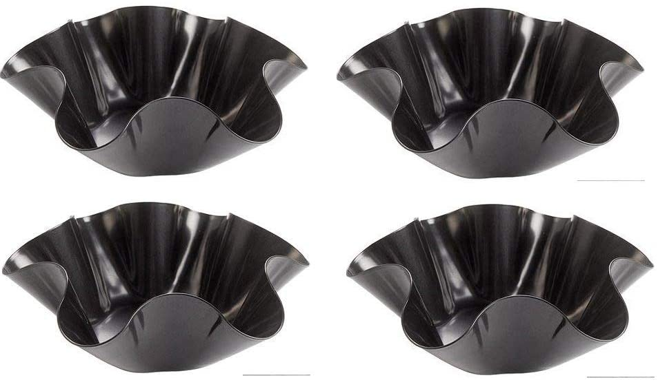 Tortilla Pan SetNon Stick Steel Taco Salad Bowl Makers Tortilla ShellMaker Extra Thick Steel Set of 4 By Chefcaptain