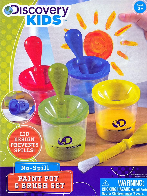 Discovery Kids No-Spill Paint Pot & Brush Set