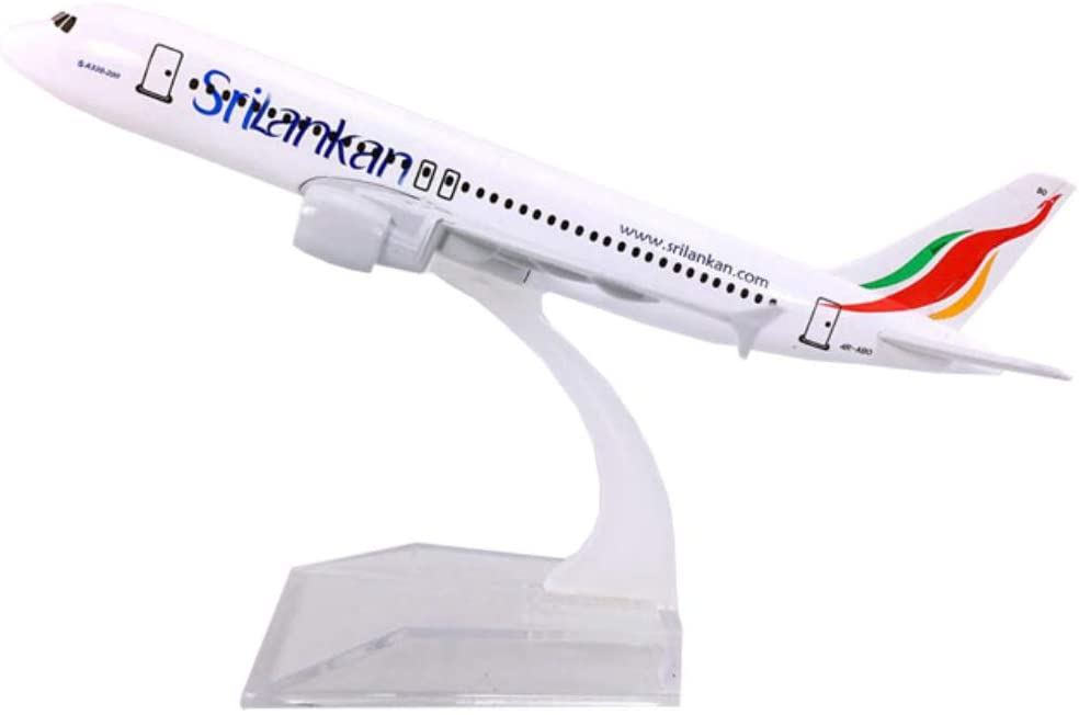 NUOLANDE Metal Alloy Airplane Model (16Cm) Airplane Model Srilankan Airlines A320 Die-Cast Plane Scale 1:400 for Collectors and Enthusiasts