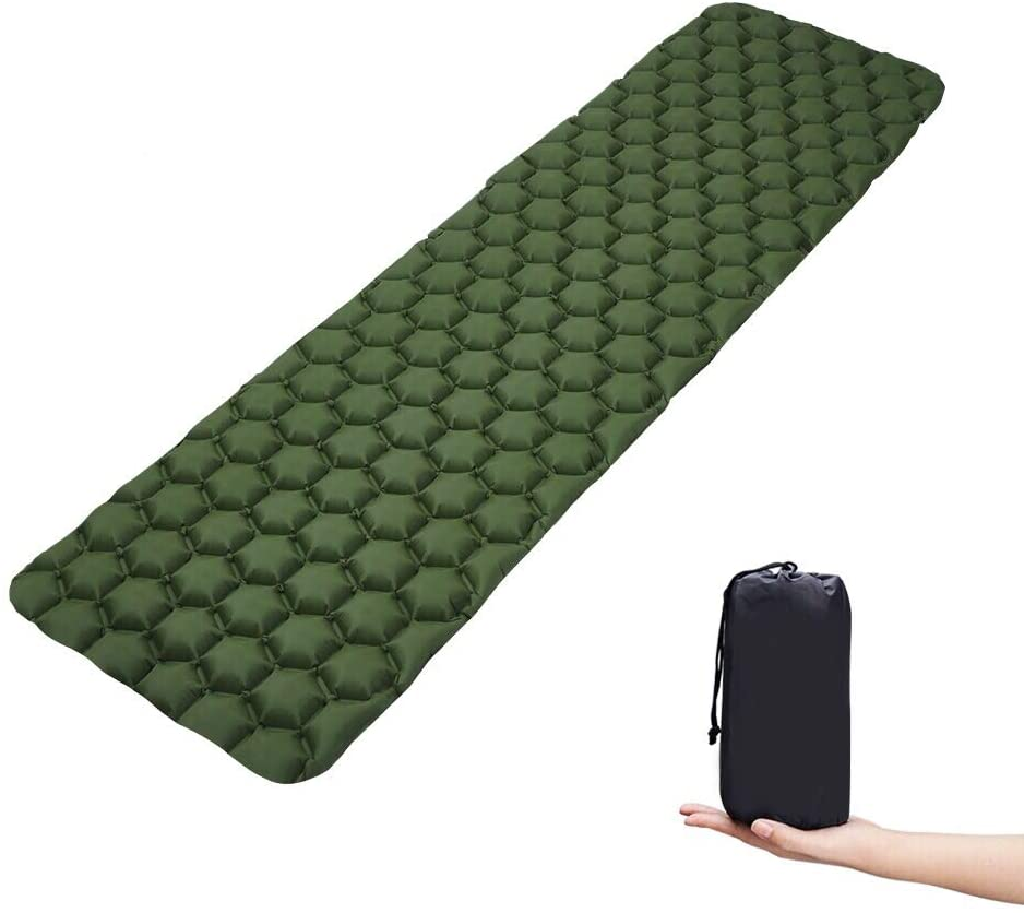 None Branded Sleeping Camping Mat Air Pad Ultralight Mattress Backpacking Hiking Compact Portable for Traveling