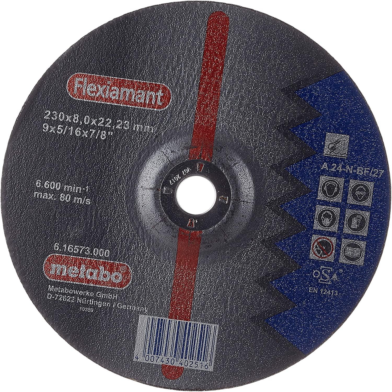 Metabo 616573000 Flexiamant Steel Disc, 0 V, Green, 230 x 8.0 x 22.2 mm