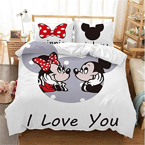 Terraberk Disney Black and White Mickey Minnie Mouse Bedding Sets for Boys & Girls
