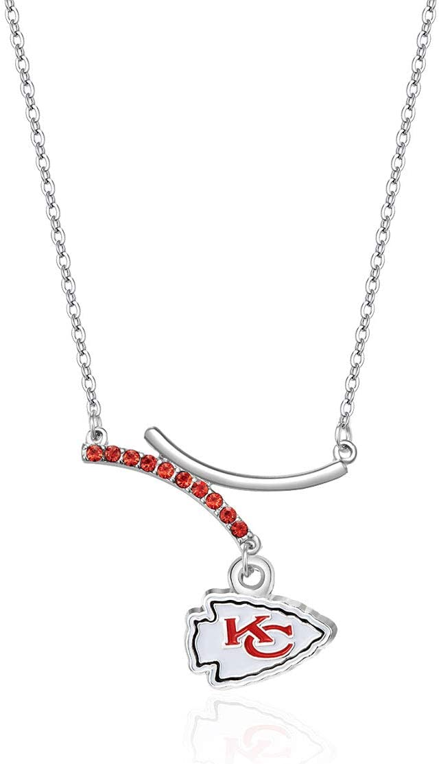 NFL Dual Infinity Necklace | Sports Fan Jewelry Gift | Fashion Jewelry | Birthday & Holiday Gifts for Women and Girls