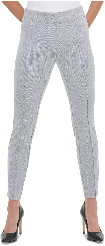 TOMMY HILFIGER Womens Gray Herringbone Wear To Work Pants Size XL