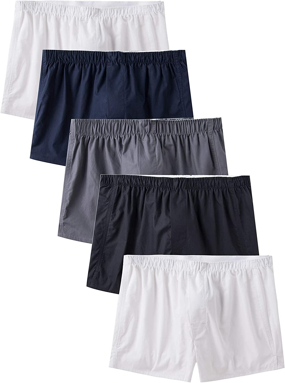 CYZ Men's 100% Cotton Poplin Woven Boxers