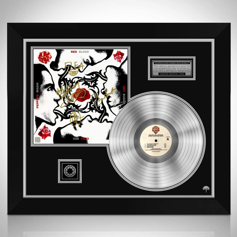 Red Hot Chili Peppers Blood Sugar Sex Magik Platinum LP Limited Signature Edition Licensed Custom Frame