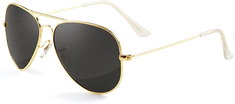 GREY JACK Polarized Classic Aviator Shaped Sunglasses Lightweight Style for Men Women
