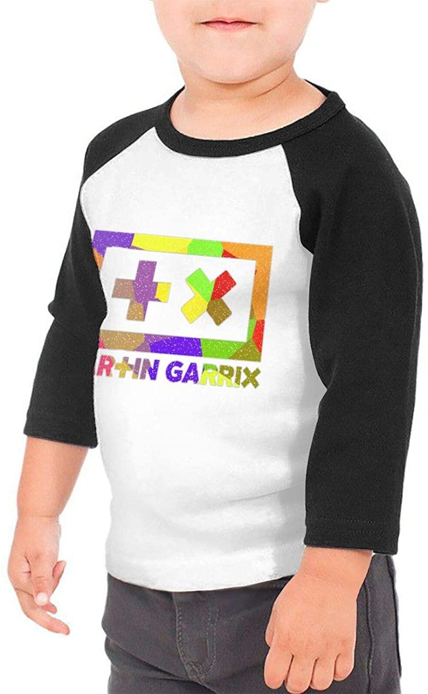 Martin Garrix Kids' Cotton Youth 3/4 Sleeve T-Shirt Black