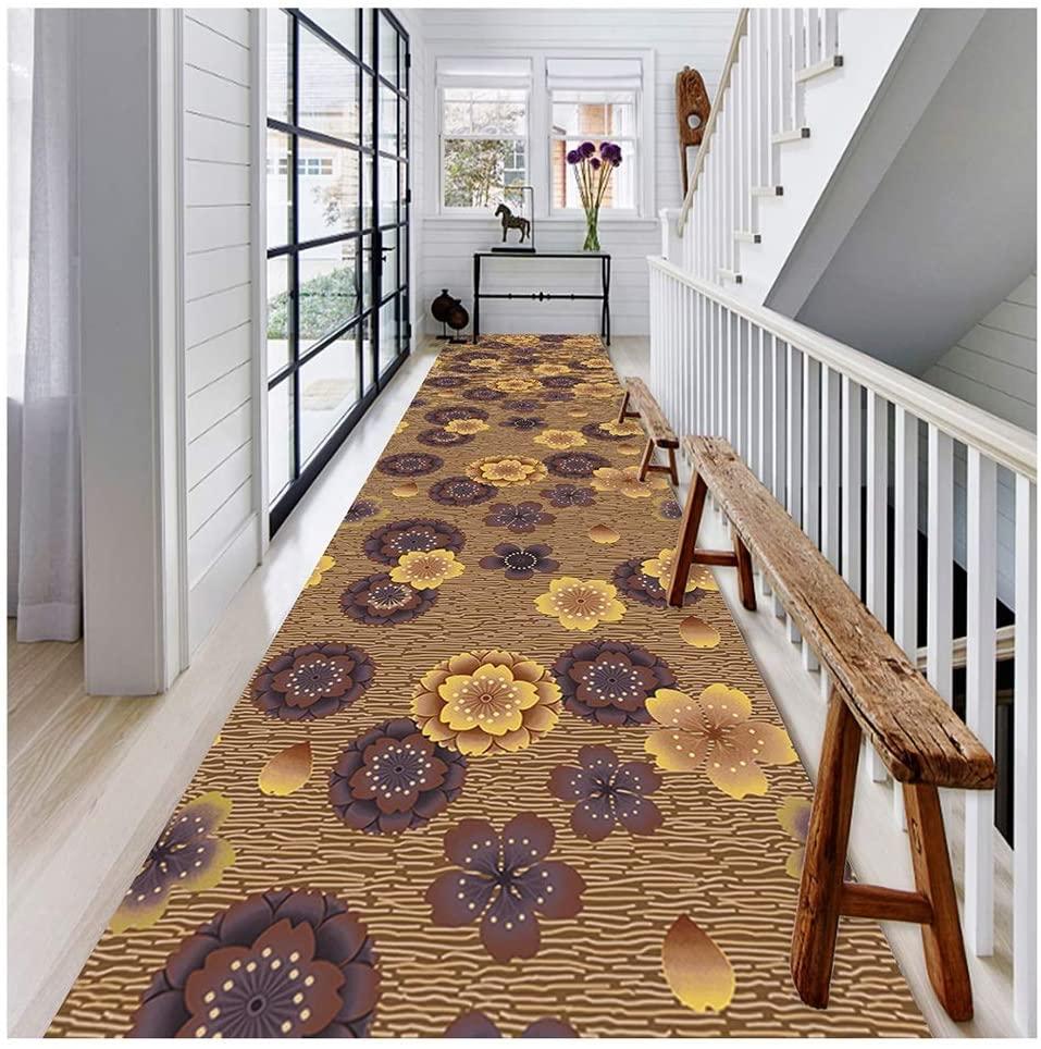 QTT Corridor Carpet Runner Rugs Dirt Stopper Mats Multiple Sizes Cuttable 2 Colors Non-Slip 6mm TTaN (Color : B, Size : 1.2X6M)