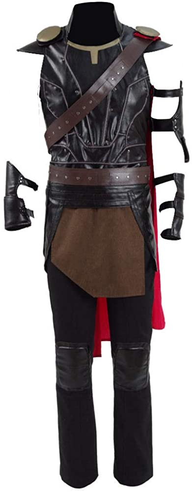 VOSTE Halloween Superhero Costume Hot Movie Cosplay Party Show PU Full Set for Men