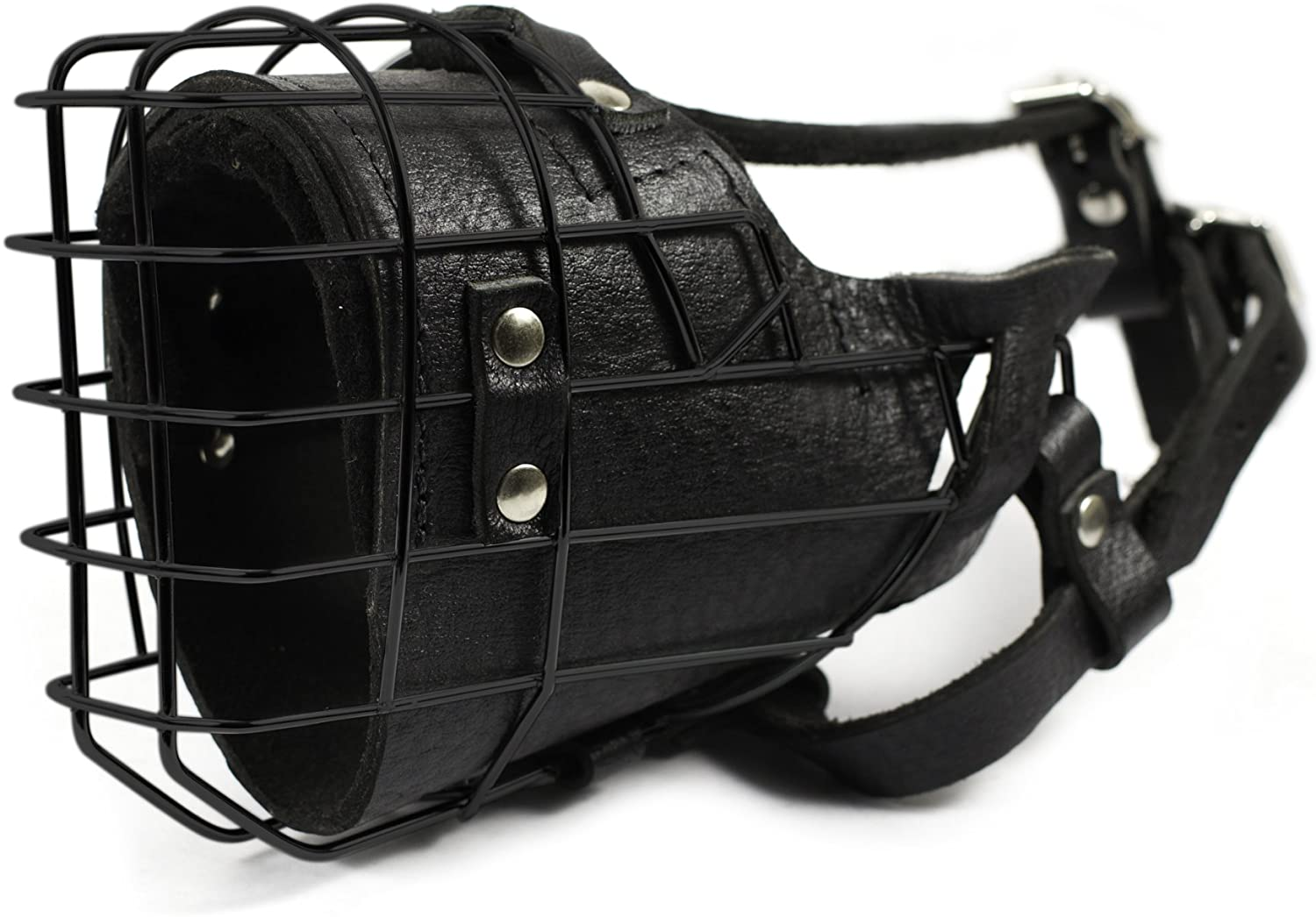 Dean and Tyler DT Freedom Winter Black Padded Muzzle, Size No. 1 - German Shepherd Female