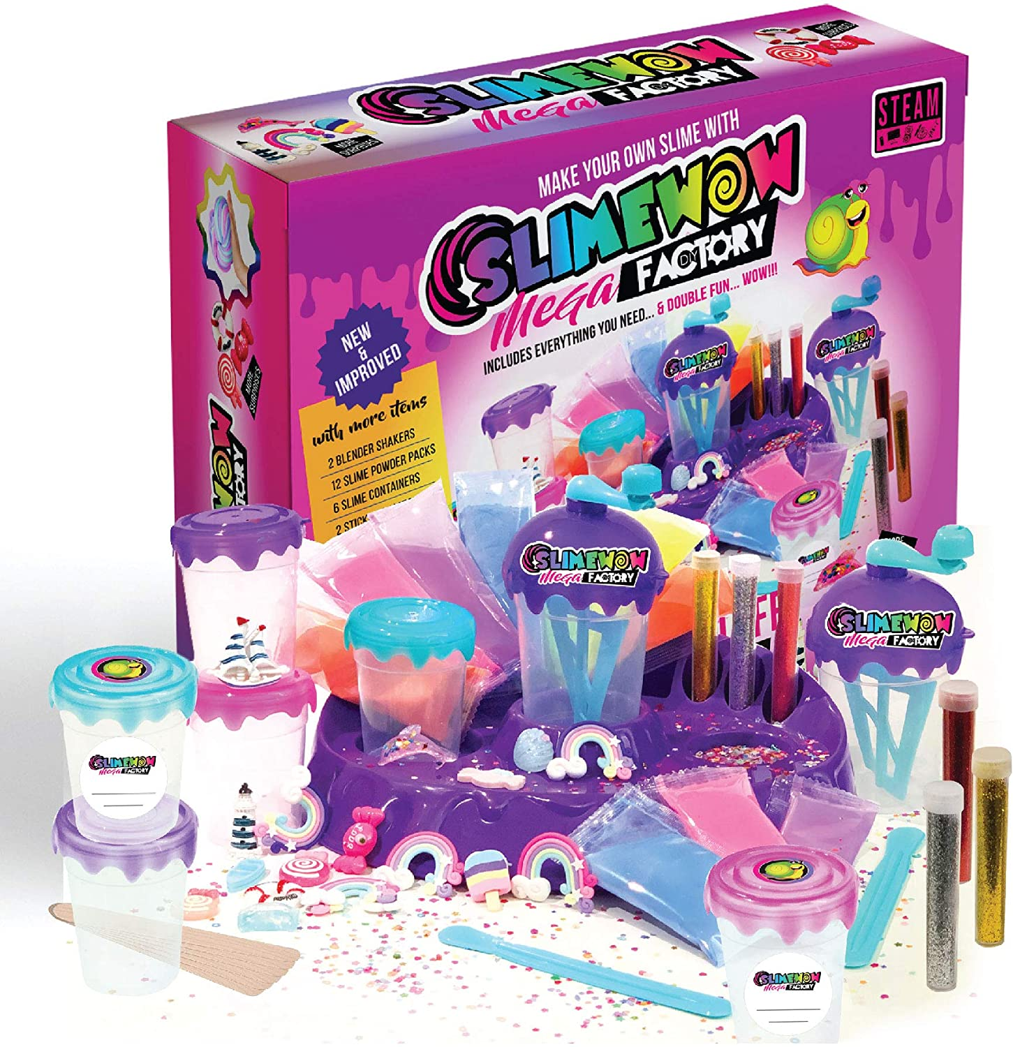 Slime Kit for Girls | Unicorn DIY Making Fluffy Slime Complete Supplies KIT | Including POOPSIE Surprises and Slime CONTAINERS | Art and Crafts at Home and Party Fun| Hottest Gift