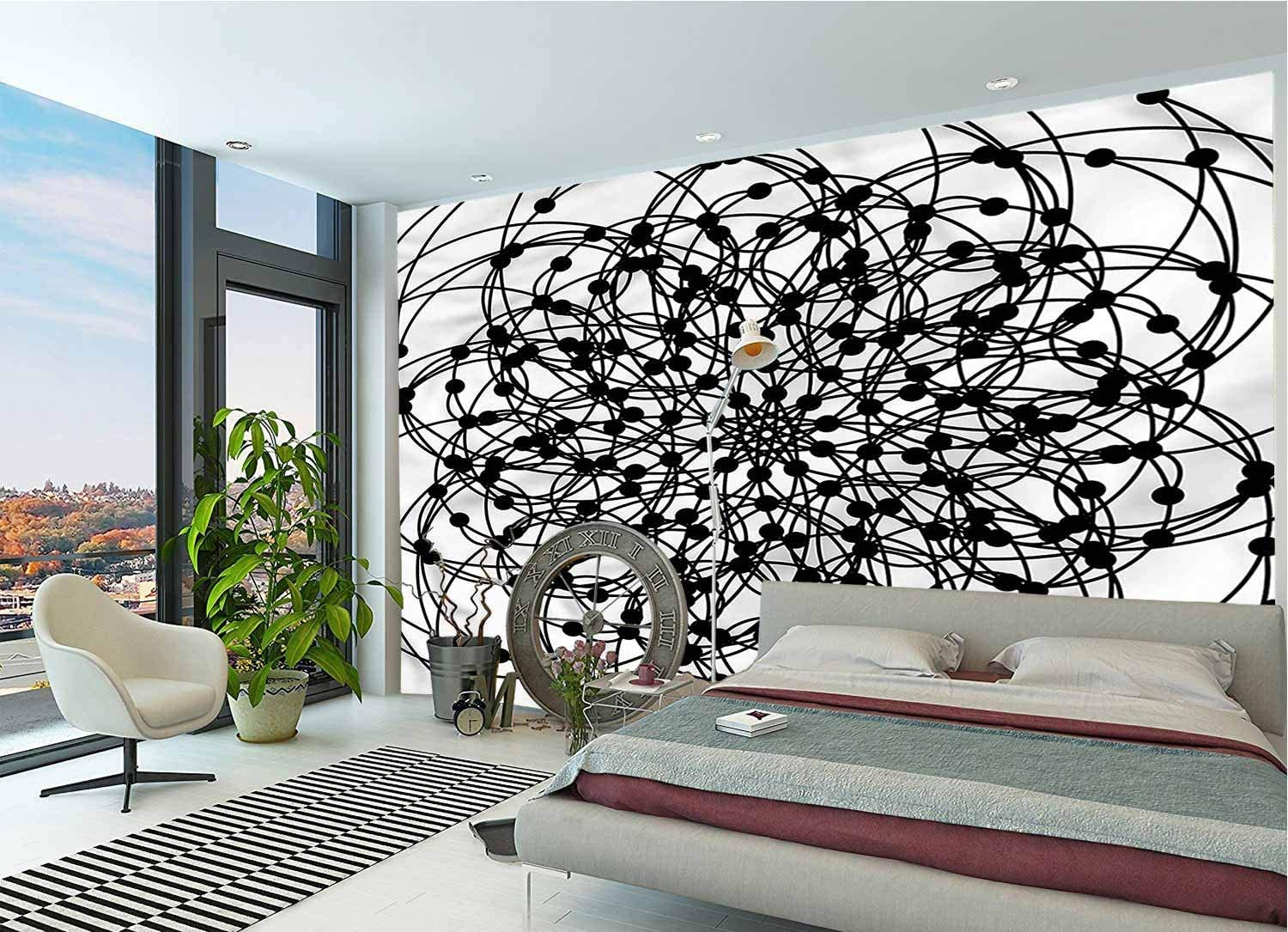LCGGDB 3D Print Wall Stickers Murals,Ancient Sacred Geometry Paperhanging Wallpaper for Office Livingroom Girls Bedroom Family Wall Decals-144x100 Inch