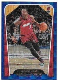 Dwyane Wade 2018-19 NBA Hoops Blue Checkerboard #53/75 Miami Heat Hoops Tribute Card #282
