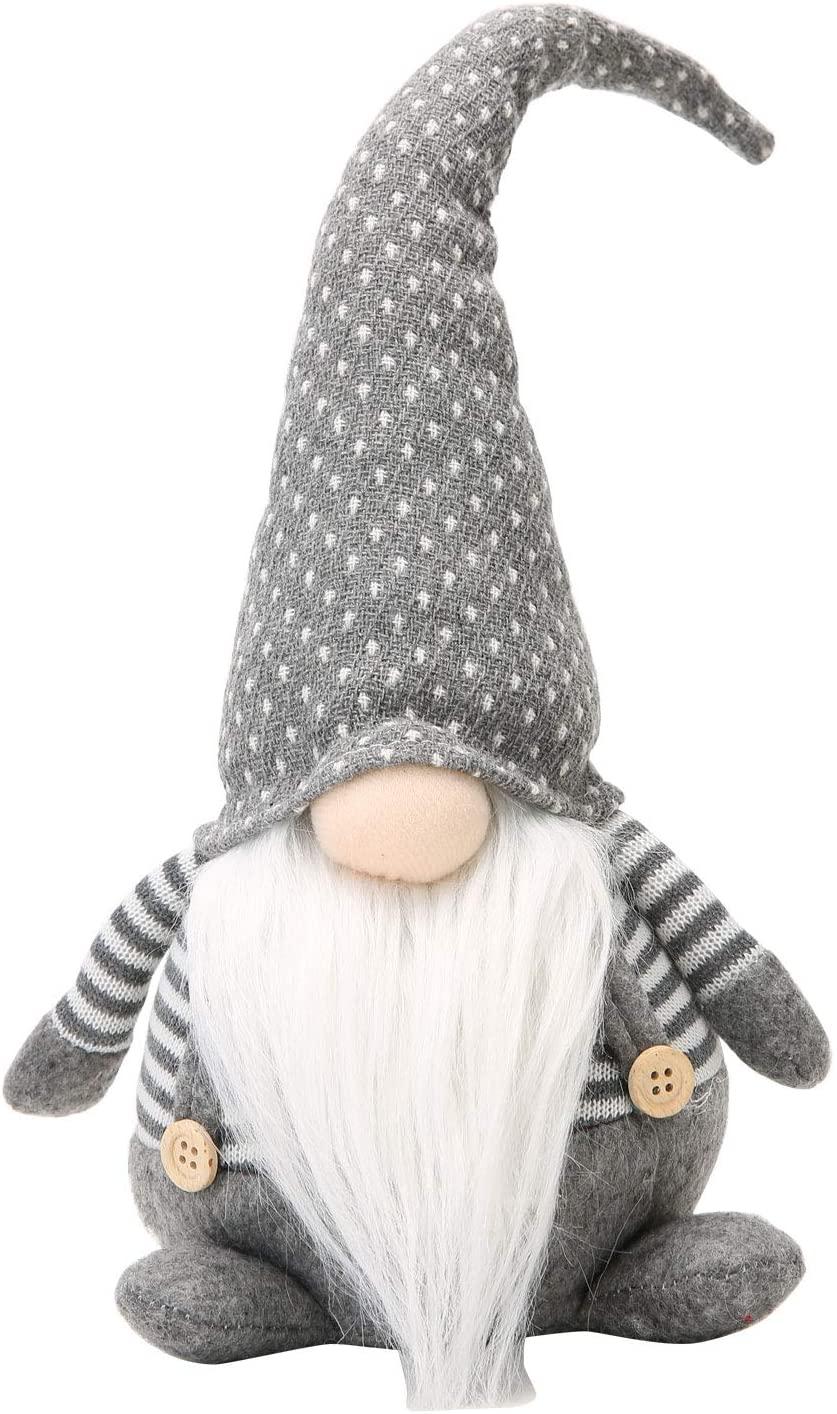 Handmade Christmas Gnome Decoration Swedish Figurines (Grey-2)