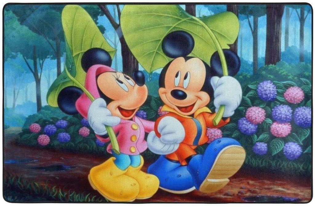 Mickey Mouse Super Soft Area Carpet Kids Living Room Boys Girls Room Area Rug Nursery Home Decor Carpet 60 X 39 Inches