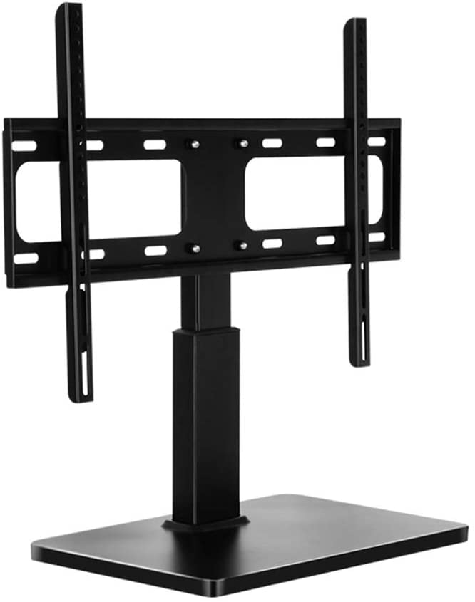 QERNTPEY TV Stand Universal Tabletop TV Swivel Stand for TVs - Height Adjust for Better Viewing Angles for Home TV Base (Color : Black, Size : 32-60 inches)