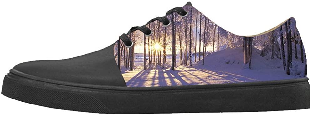 Daniel Turnai Fan Custom Women's Shoes Tree Winter Snow New Sneaker Canvas Pointed Toes