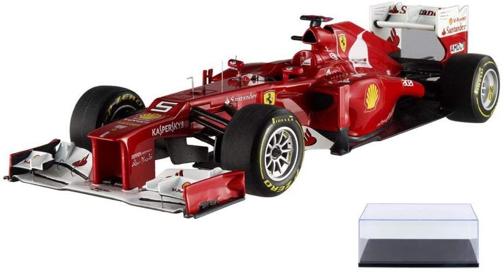 Diecast Car & Display Case Package - 2012 - Ferrari F2012 F1 Formula - F. Alonso #5, Red - Mattel Hot Wheels X5484 - 1/18 Scale Diecast Model Toy Car w/Display Case