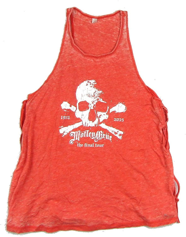 Motley Crue Obit Final Tour Juniors Lace Up Tank Top Shirt