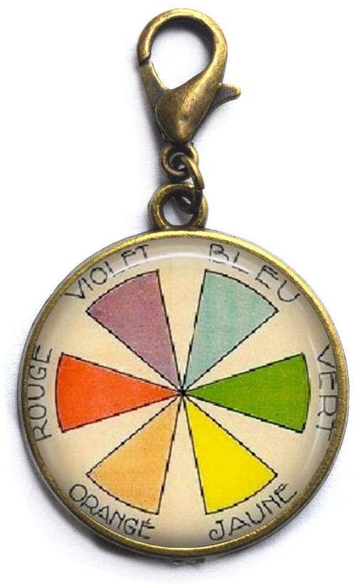Color Wheel Zipper Pull, Artist Gift for her,Minimalist Zipper Pull,Dainty Zipper Pull,Simple Zipper Pull,N203