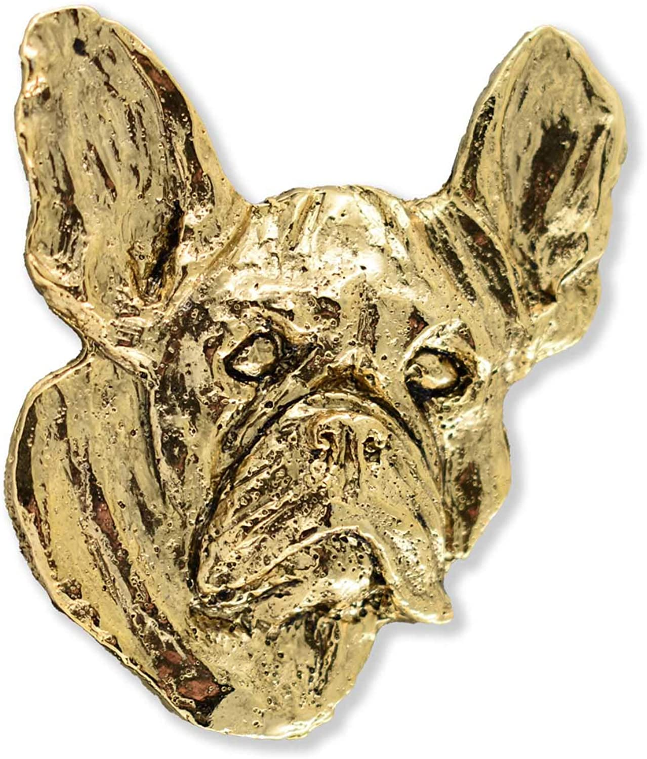 Creative Pewter Designs - Dog Lapel Brooch Pin, Handmade in The USA - Available in Pewter, Copper & 22k Gold Plated & Hand Painted