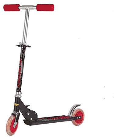 P&F Kick Scooter Strong Scooter with Enjoy Light-Up Wheels and Adjustable Heights for Children from 5-14yrs