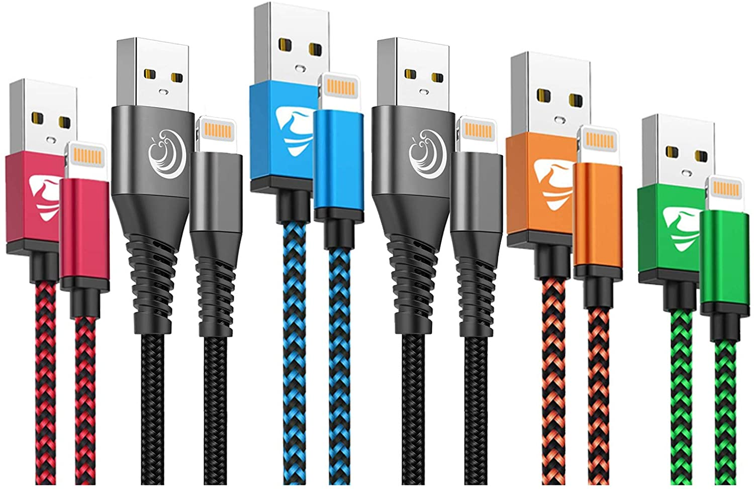 Aioneus iPhone 12 Charger Cord 6 Pack Nylon Braided Fast iPhone Charging Cord Nylon Braided iPhone Charging Cable Compatible with iPhone 12 Mini 12 Pro max 11 Pro max XR max 8 7 6 6s SE 2020,iPad