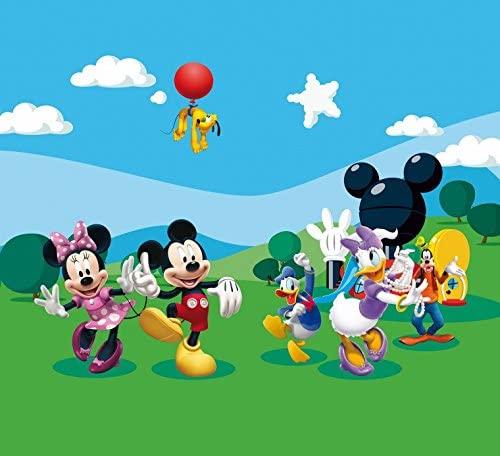 1art1 Mickey Mouse Window Curtain - Minnie, Donald, Daisy, Goofy (71 x 63 inches)